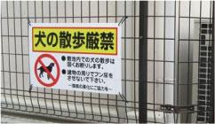犬の散歩厳禁
